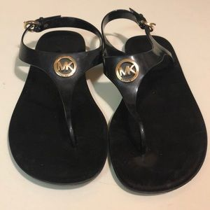 Michael Kors black rubber sandals!